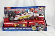 Paw Patrol Ultimate Rescue Fire Truck W/extendable 2 Ft Ladder Brand New