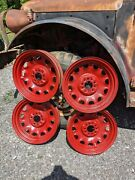 Artillery Wheels 17 1930and039s Vehicles Five Rims - See Measurements In Ad. -