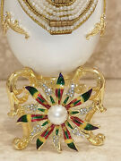Rainbow Carousel Faberge Egg Music Present And Bracelet For Friend Christmas Xmas