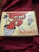 Vintage 1962 Bullwinkle And Rocky Vinyl Lunchox