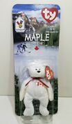 Maple The Bear- Mcdonalds Ty Beanie Baby W/errors From Collector In Oak Brook