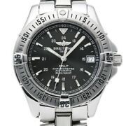 Free Shipping Pre-owned Breitling Colt Automatic A17350 Black Dial