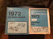 1972 Ford Car Shop Manuals Volume 1 Chassis, Owner Maintenance Light Repair