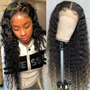 Deep Wave Lace Front Human Hair Wig Deep Lace Closure Wig Remy Curly Pre Plucked