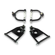2 Pairs Control Arms Tubular Upper And Lower Coil Spring For Hot Rod Mustang Ii