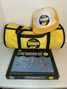 Vintage Worth Lure Making Kit With Dupont Hat And Bag Brand New Complete