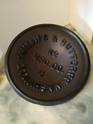 Antique Cast Iron Phillips And Buttorff No 8 Dome Lid Rare Find Nashville Tn Nice