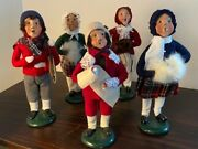 Byers Choice Carolers Lot Of 5 Pre-owned