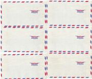 Six Vintage Dasco Ready-seal Air Mail Tri-lingual Mailing Letter Envelopes
