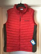 Columbia South Valley Vest Light Weight Men's Large Red Xo0897 613 New With Tags