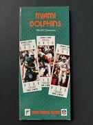 Miami Dolphins 1984 Afc Championship Media Guide - 232 Pgs Of Great Facts M2160