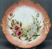 Haviland Limoges Hand Painted Chrysanthemums Double Gold 13 7/8 Inch Charger