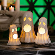 Halloween Lighted Ghosts - Cute And Spooky Home Decor - 3 Pieces