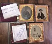 1860s Tintype Photos Id'd Civil War Soldier And Wife Missouri Or Arkansas