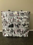New Disney Parks Kate Spade Black White Red Minnie Mickey Mouse Comic Lrg Tote