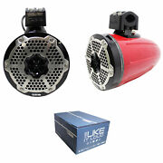 Pair Of Ds18 Hydro 6.5 900w 4 Ohm Rgb Led Marine Tower Speakers Nxl-x6tpneo/rd