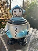 Rare Atomic 1950and039s- 1960and039s Mid Century Spaceman Astronaut Alien Cookie Jar