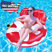 Inflatable Pool Floats For Adults Kids Perfect Size For Swimming Plastic Party