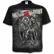 Spiral Direct - Sons Of Anarchy Reaper Montage T-shirt/crew Samcro/top