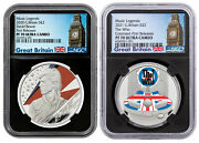 Uk Music Legends David Bowie And Who Set Of 2 1oz Silver Colorized Ngc Pf70 Uc Fr