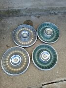1962 Cadillac Hub Caps Set Of 4 Caddy Wheel Covers Hubcaps