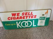 Vintage Advertising Kool Cigarette Tobacco Tin Sign Store Counter 900-i
