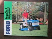 Original Brochure For Ford Lawn And Garden Tractors, 1970's, Nice Shape