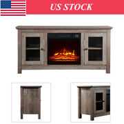 1400w Electric Fireplace Insert 51inch Fireplace Tv Cabinet Heater Entertainment