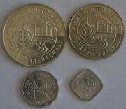 India 5 10 Paise And 10 50 Rupees 1978 Fao 4 Coins Set With Silver Crown