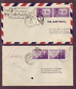 Farley - Imperf Pairs On 1930s California Covers - Air Mail Lot Of 2