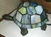 Turtle Quoizel Styled, Stained Glass Turtle Lamp Light New In Box B1
