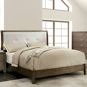 Contemporary Bedroom Cal King Size Bed 1pc Gray Solid Wood Bedframe Furniture