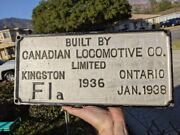 Rare 1938 F1a Jubilee 4-4-4 Cpr Canadian Pacific Locomotive Builder Plate