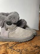 Womens Ugg Australia 5803 Bailey Button Gray Brown Boots Us Size 7