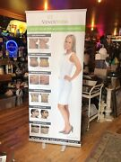 Roll Down Sign Screen Stand Advertising 34x80andrdquo Sexy Lady Girl Next Door