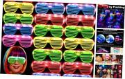 36 Pack Led Glasses Glow Sticks Glasses Party Supplies Glow In The Dark Party