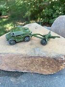 Dinky Toys Military Field Artillery Tractor 688 1957-1961 With 25 Pr Gun