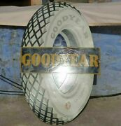 1920and039s Old Vintage Rare Goodyear Tire Ad Porcelain Enamel Sign Board Collectible