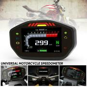 Universal Led Speedometer Lcd Digital Odometer 2.4 Cylinder Motorcycle Time 24h