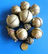 Huge Ancient Antique Silver Metal Alloy Ethnic Beads Necklace Lot Ancien Perles