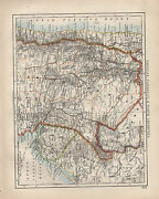 1902 Victorian Map South America Uruguay Paraguay North Argentina