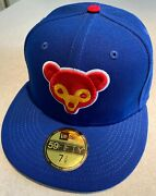 Chicago Cubs Exclusive 1962 Asg Patch New Era Blue Hat Pink Uv 7 3/8 New W/ Tags
