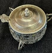 Rare German Wmf Silver Plated Sugar Bowl W/ Lid And Spoon