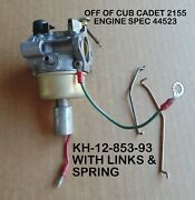 Cub Cadet 2155 Used Carb Kh-12-853-93 With Links And Spring