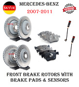 Front And Rear Brake Rotors And Brake Pads Sets With Sensors For Mercedes Ml63 R63