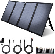 Iclever 100w Foldable Solar Panel Charger For Jackery/ef Ecoflow/rockpals Portab