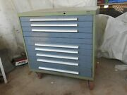 Bott German Made Extra Large Double Wide Tool Box Roll Away Cabinet 10 Drawer 9