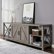 68 Inch Tv Stand Wood Console Table With Storage Cabinets For Tvs Up To 78