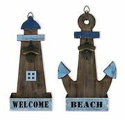 Sailingstory Beach Decor Bottle Opener Wall Mounted With Catcher Beach Nature