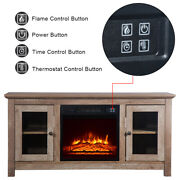 1400w Electric Fireplace Insert Fireplace Tv Cabinet Heater Entertainment 51inch